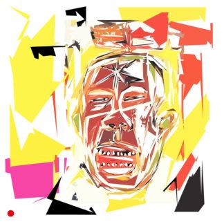 Appropriation et remake d'un tableau de Jean-Michel Basquiat dans le cadre de l'éloge de l'approximation et la perception liée à la mémoire vaporeuse.