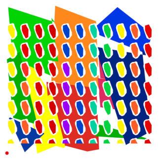 Appropriation et remake du tableau « l'abstraction radicale » de Claude Viallat dans le cadre de l'éloge de l'approximation et la perception liée à la mémoire vaporeuse.