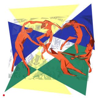 Appropriation et remake de « La Danse - 1910 » de Henri Matisse dans le cadre de l'éloge de l'approximation et la perception liée à la mémoire vaporeuse.