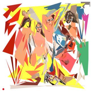Appropriation et remake du tableau « Les Demoiselles d'Avignon - 1907 » de Pablo Picasso dans le cadre de l'éloge de l'approximation et la perception liée à la mémoire vaporeuse.