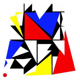 Appropriation et remake d'une œuvre de Mondrian - composition numéro 4