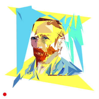 Appropriation et remake de l'auto-portrait de Van Gogh à Saint-Rémy