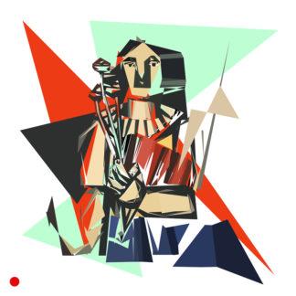 Appropriation et remake du tableau « Woman with a book - 1923 » de Fernand Léger dans le cadre de l'éloge de l'approximation et la perception liée à la mémoire vaporeuse.