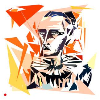 Appropriation et remake du tableau « Bernard Buffet - autoportrait » de Bernard buffet dans le cadre de l'éloge de l'approximation et la perception liée à la mémoire vaporeuse.