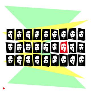Appropriation et remake du tableau « Christian Boltanski in Rome - 2 » dans le cadre de l'éloge de l'approximation et la perception liée à la mémoire vaporeuse.