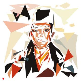 Appropriation et remake du tableau « Gyalwa Karmapai » de Claude-Max Lochu dans le cadre de l'éloge de l'approximation et la perception liée à la mémoire vaporeuse.