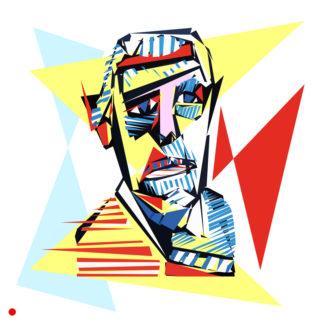 Appropriation et remake du tableau « Autoportrait - 1966 » de Jean Dubuffet dans le cadre de l'éloge de l'approximation et la perception liée à la mémoire vaporeuse.