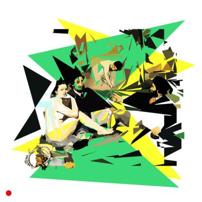 Appropriation et remake du tableau « Le déjeuner sur l'herbe » de Édouard Manet dans le cadre de l'éloge de l'approximation et la perception liée à la mémoire vaporeuse.
