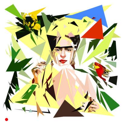 Appropriation et remake du tableau « Con amigos» de Frida Kahlo dans le cadre de l'éloge de l'approximation et la perception liée à la mémoire vaporeuse.
