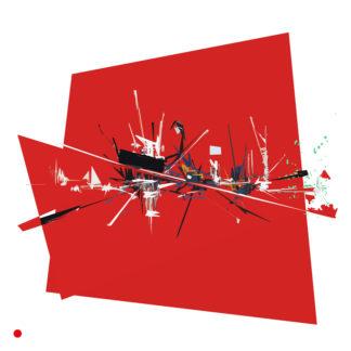 Appropriation et remake du tableau « Rouge » de Georges Mathieu dans le cadre de l'éloge de l'approximation et la perception liée à la mémoire vaporeuse.
