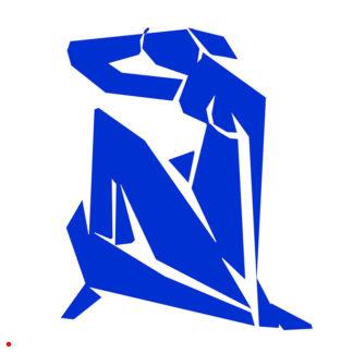 Appropriation et remake du tableau « Nu Bleu - 1952 » d'Henri Matisse dans le cadre de l'éloge de l'approximation et la perception liée à la mémoire vaporeuse.