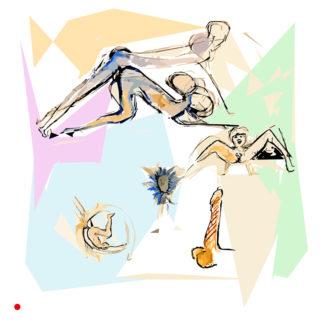 Appropriation et remake du tableau « Cul réfléchi » de Fabrice Hybert dans le cadre de l'éloge de l'approximation et la perception liée à la mémoire vaporeuse.