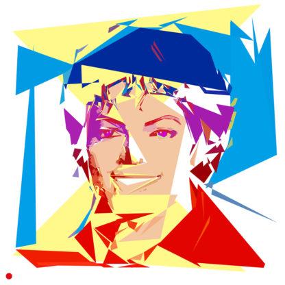 Appropriation et remake du tableau « Michael Jackson » de Andy Warhol dans le cadre de l'éloge de l'approximation et la perception liée à la mémoire vaporeuse.