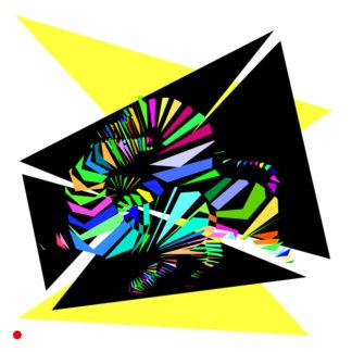 Appropriation et remake du tableau « Zebra - 1938 » de Victor Vasarely dans le cadre de l'éloge de l'approximation et la perception liée à la mémoire vaporeuse.