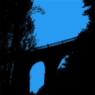 Forme et fond - Toile en noire et bleue : allez saute, je t'attends