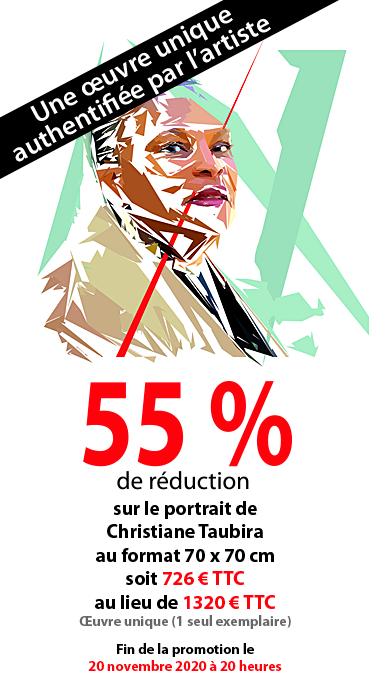 Promotion du tableau du portrait de Christiane Taubira