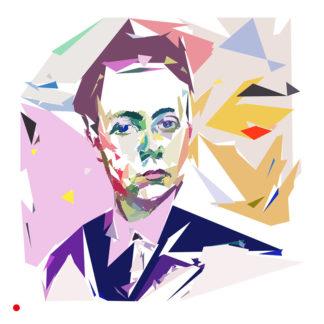 Auto-portrait de Robert Delaunay, peintre français.