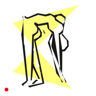 Acrobate en 1952 - encre de chine d'Henri Matisse