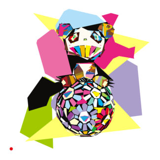 Appropriation et remake d'une toile de Takashi Murakami : « Panda! Panda! »