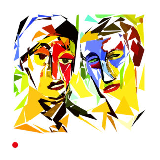 Appropriation et remake du tableau « Double portrait de S. et L. » de Karl Schmidt-Rottluff vers 1925.