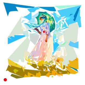 """""""La femme à l'ombrelle"""" de Claude Monet tournée vers la gauche"""