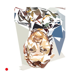 Appropriation de « portrait d'un homme » de Georg Baselitz