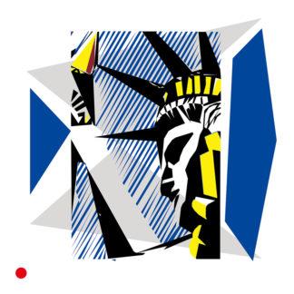 Appropriation et remake du tableau « I Love Liberty » de Roy Lichtenstein.