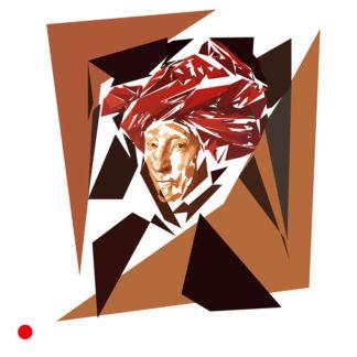 Appropriation et remake du tableau « L'Homme au turban rouge » de Jan Van Eyck en 1433
