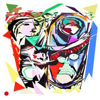Appropriation et remake du tableau « La jeune fille devant le miroir » de Pablo Picasso