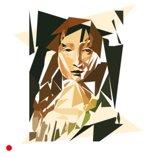 Appropriation et remake du tableau « Portrait de femme pour le chef du savage » par Léonard de Vinci