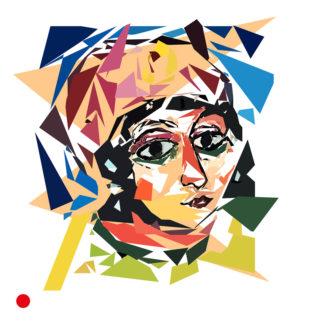 Appropriation et remake du tableau « Tête de jeune fille avec turban rouge et agrafe jaune (Princesse barbare) » de Alexej von Jawlensk vers 1912