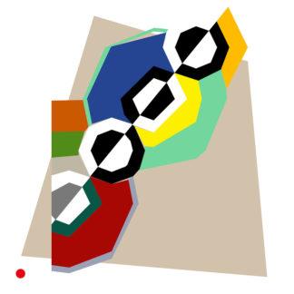 Approximation et remake du tableau « Rythmes » de Robert Delaunay - 1934