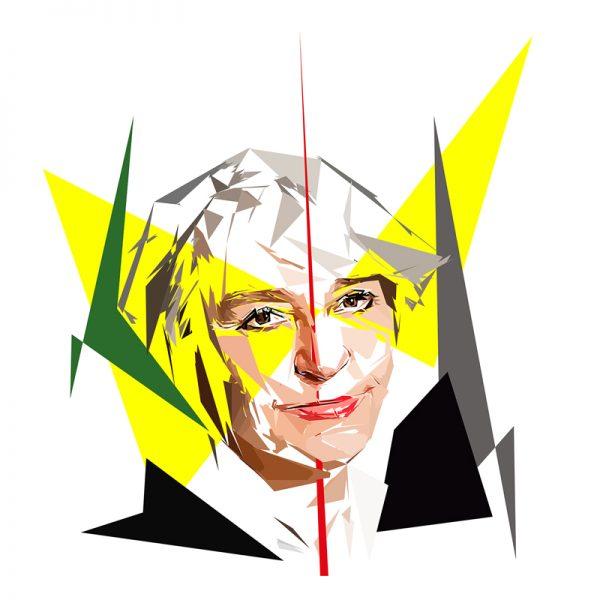 Peinture numérique sur toile de Nathalie Heinich est une sociologue française. Elle est spécialiste de l'art, notamment de l'art contemporain.